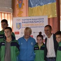 Олімпійці з молодими спортсменами міста