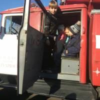 Зустріч учнів гімназії з пожежниками в/ч А1815