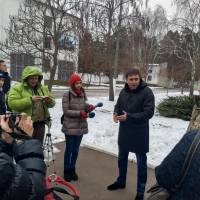 Медіа-зустрічі у Гончарівській громаді. На території  військової частини.