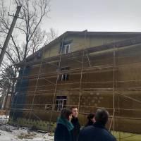 Медіа-зустрічі у Гончарівській громаді.Будівництво гуртожитку.