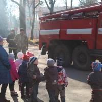 Зустріч пожежників з вихованцями дитячого садка