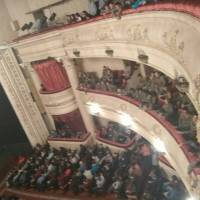 Учні Гончарівської гімназії  на   прем'єрі драматичної поеми  ,,Лісова пісня''
