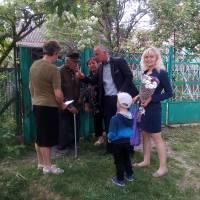 Вітання ветеранів та сім'ї загиблих у війні напередодні свята
