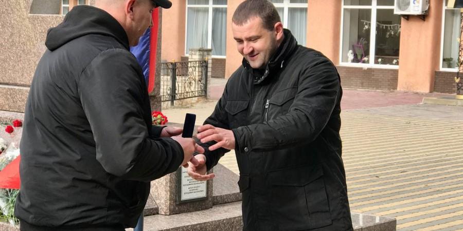 Голова Коростенської РДА Юрій Тарасюк привітав з Днем захисників та захисниць України