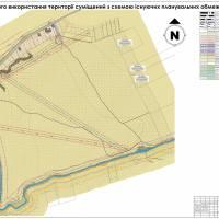 План існуючого використання території суміщений з схемою існуючих планувальних обмежень
