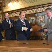 Підписання угоди з  містом  Наход