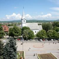 Площа Незалежності в центрі міста Тячів