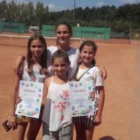 Анастасія Григоренко, Валерія Лукач та Дарина Глібчук, які посіли  місця в перших вісімках у своїх вікових підгрупах