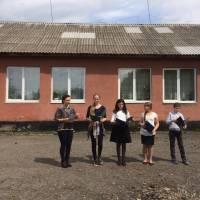 Бібліотекар школи Цюбик Валентина Олексіївна провела виступ на тему «Чорнобильська катастрофа»