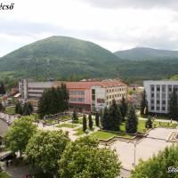 Вигляд на площу Незалежності  та гору Нересен (сучасна Румунія)