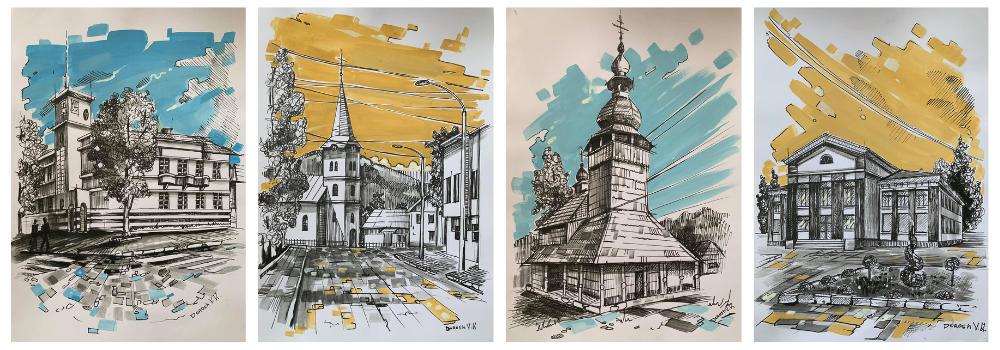 Малюнки Сваляви художника Віталія Дороша