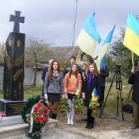 Відкриття пам'ятника воїнам УПА. фото В.Салітри