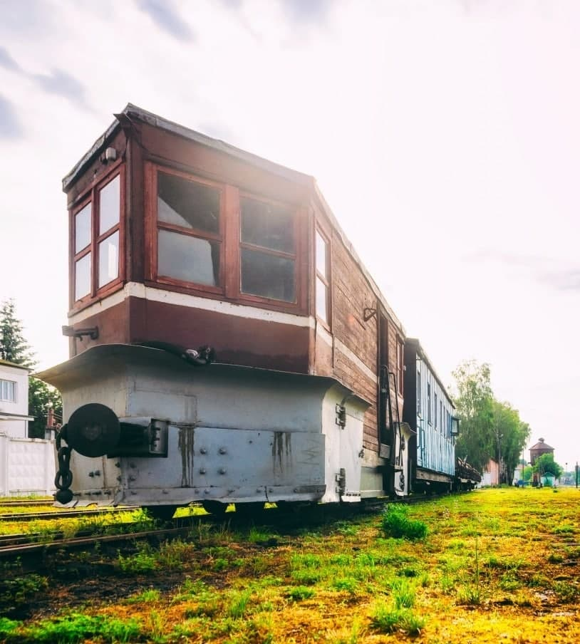 Дерев'яний вузькоколійний вагон «Шляховимірювач»
