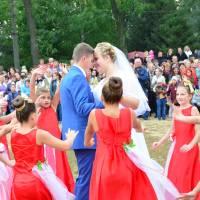 Весільна пара на 264-річниці м.Гайворона.