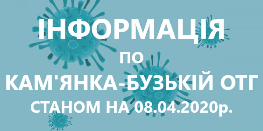Інформація по Кам'янка-Бузькій ОТГ станом на 08.04.2020р.