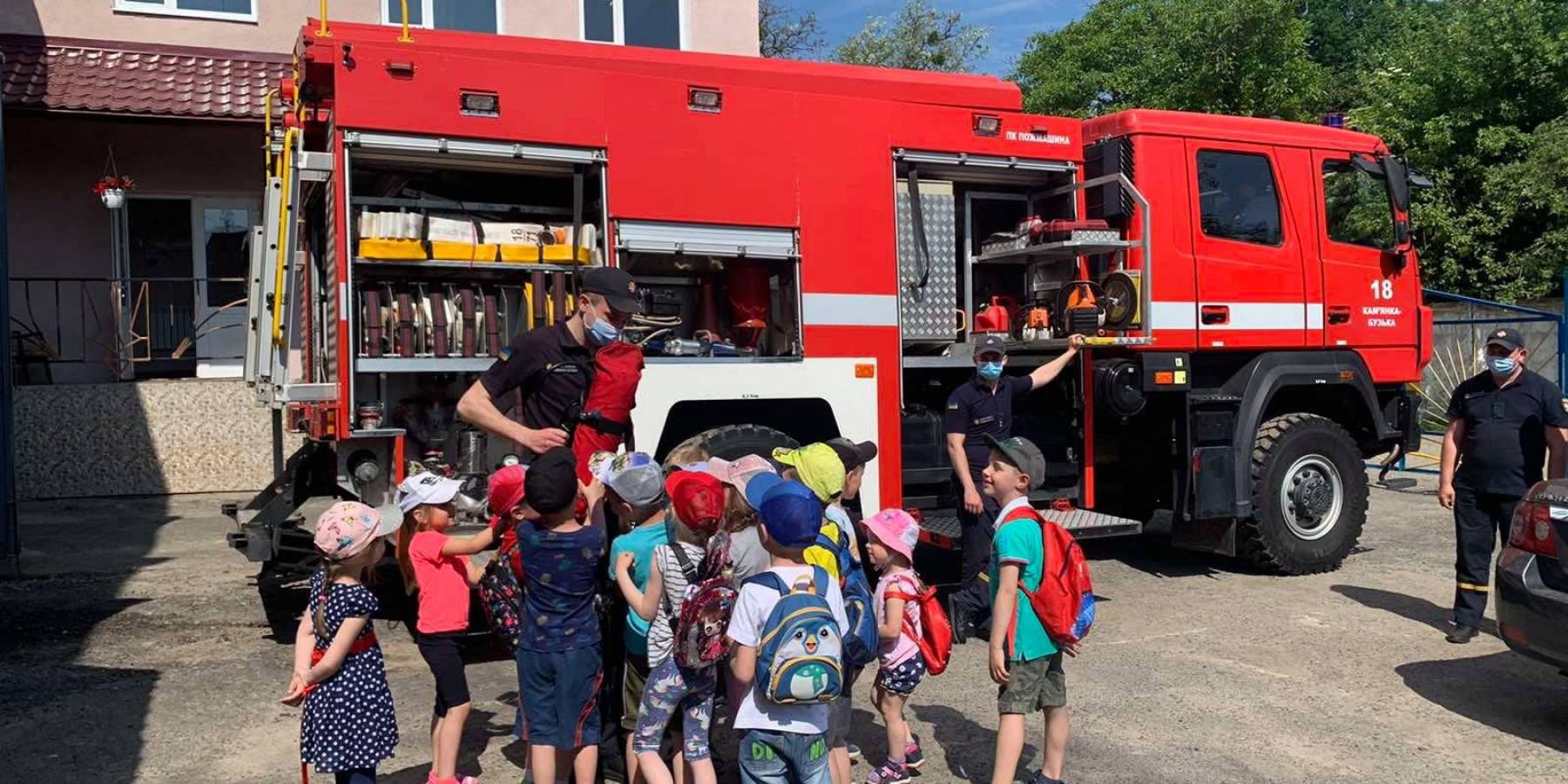Інформативні екскурсії на тему протипожежної безпеки для дошкільнят.
