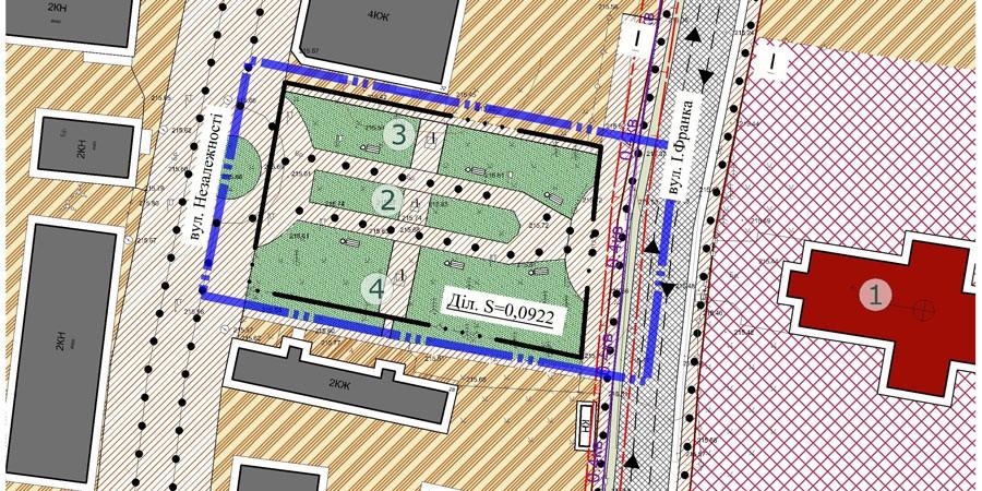 Детальний план території для встановлення та обслуговування пам'ятного знаку Кам'янецько-Струмилового Євангелія 1411 року перед храмом Різдва Пресвятої Богородиці.