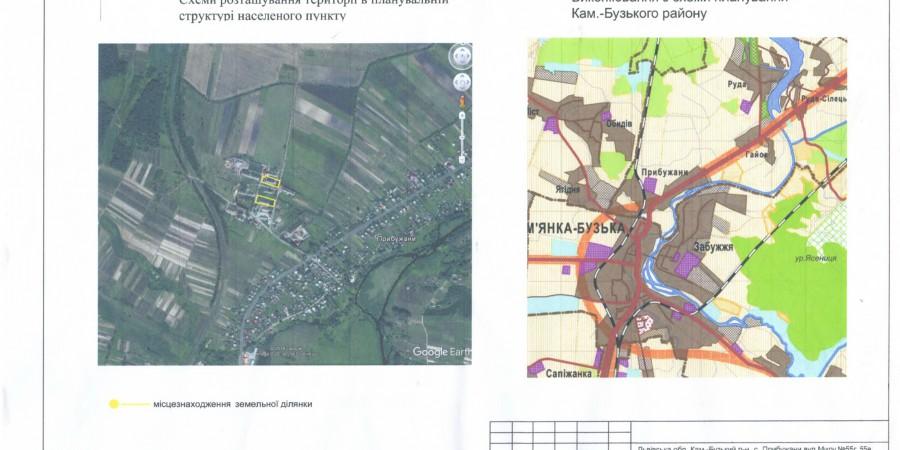 Проект детального плану території земельної ділянки для обслуговування нежитлових будівель складу, свинарнику та переходу, що розташовані по вул. Миру 55 «г», 55 «в» за межами с.Прибужани.