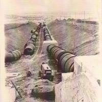 Облаштування магiстрального трубопроводу, 1953 р.