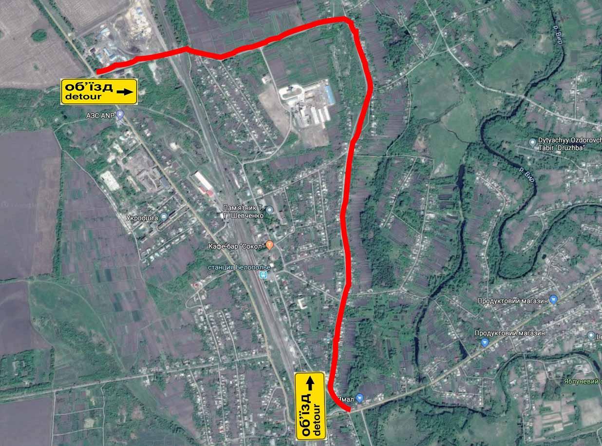 карта об'їзду