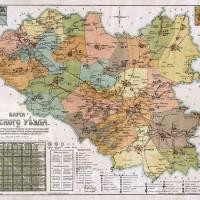 Карта Сумського повіту 1917 р.