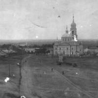 Церква Різдва Пресвятої Богородиці фото 1911р. зроблене з Покровської церкви