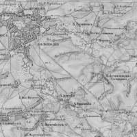 Фрагмент з карти Шуберта 1842 р.