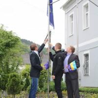 Урочиста церемонія підняття прапора та святкові урочини до Дня Європи в Україні.