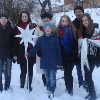 с.Остап'є Різдвяні привітання біля шопки