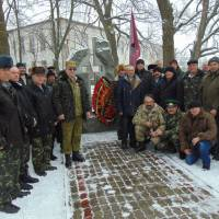 Покладання квітів до  пам'ятного знака воїнам-інтернаціоналістам