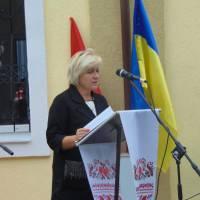 Виступає директор Будищенського психоневрологічного інтернату А.П.Піковська