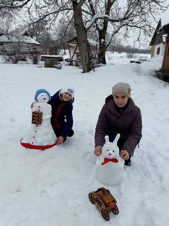 На Уманщині продовжується конкурс снігових скульптур (фото)