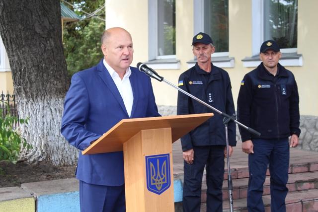 Сергій Жорницький привітав рятувальників Уманщини з професійним святом