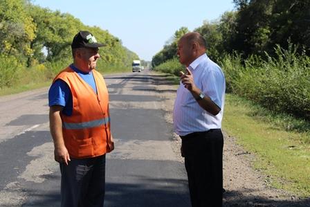 Перевірено якість проведення дорожніх робіт на автодорозі державного значення Н-16 в межах Уманщини
