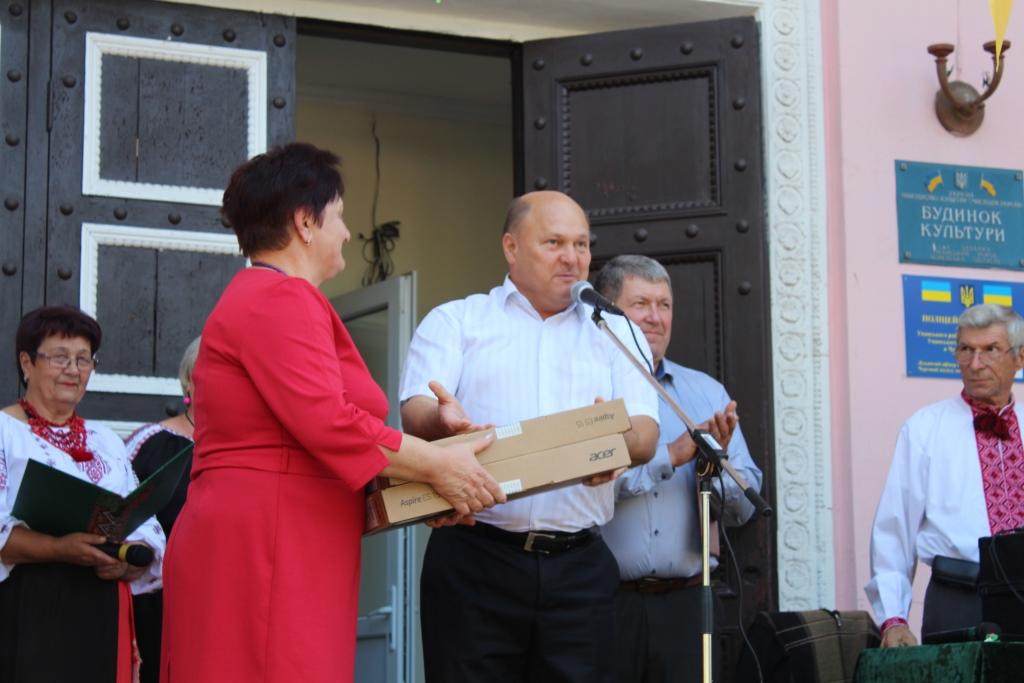 Перший заступник голови РДА Сергій Жорницький привітав жителів Бабанки із Днем селища