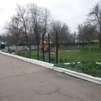 Подвір'я Гереженівської сільської ради, в якій розташовані заклади культури