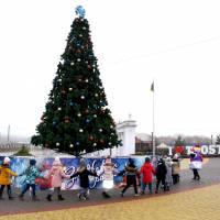 Відкриття новорічної ялинки у Тростянці (2020 р.)