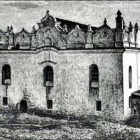 Синагога в Шаргороді. Літографія 1872.