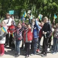 підняття прапорів Ураїни та Європейського Союзу