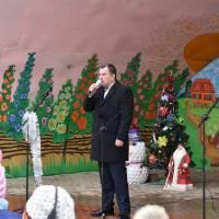 Святкування Нового 2019 року у центральному парку селища Шпиків