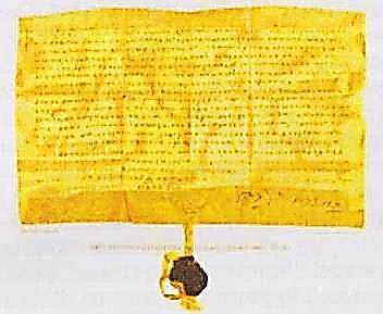 Грамота польського короля на Магдебурзьке право Сутискам 1576 р. (реконструкція)