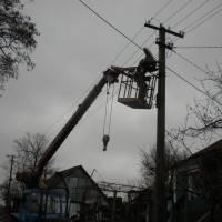 Робота по заміні старих ліхтарів