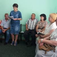 Під час сесії сільської ради (секретар ради Щавінська Г.О.)