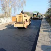 Асфальтування вулиці Сонячної в селі Крупа