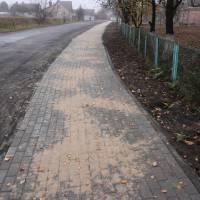 Тротуар на вулиці Лісовій у селі Лище