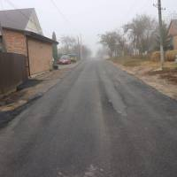 Асфальт по вулиці Вишнева в селі Лище