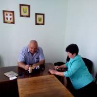Об'їзд заступником С.М. Дзеблюком та начальником гуманітарного відділу Л.М.Шереметою території громади