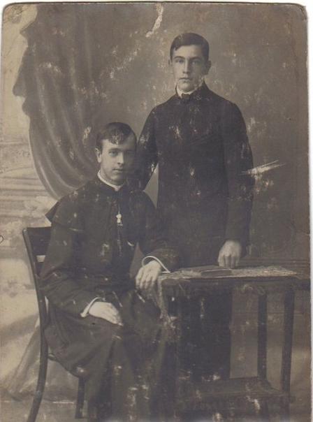 ks. Stanisław Brajczewski z bratem