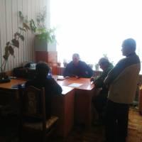 Павлівський сільський голова Андрій Сапожник провів прийом громадян в с. Риковичі
