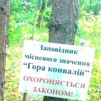 Таблички, шо повідомляють гостей лісу про заповідник